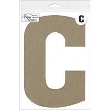 "8"" Chipboard Letter- C"