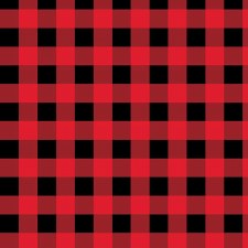 Cabin Welcome Bolted Flannel- Buffalo Check, Red