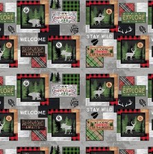 Cabin Welcome Bolted Flannel- Sampler