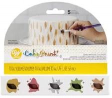 Cake Paint Metallic Colors- 5pk