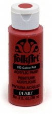 FolkArt 2oz Acrylic Paint: Reds- Calico Red