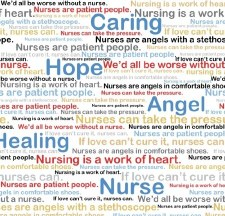 Calling All Nurses Bolted Fabric- Words of Praise