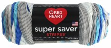 Red Heart Super Saver Stripe Yarn- Calm