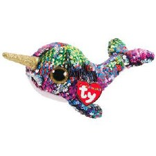 Beanie Flippable Sequins Collection- Calypso the Narwhal