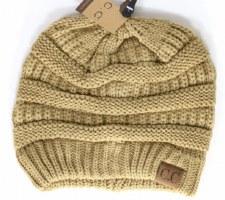 CC Knit Beanie- Camel