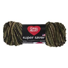 Red Heart Super Saver Yarn, Mulit-Color- Camoflauge