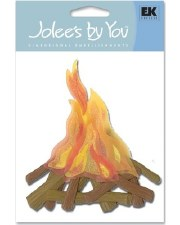 Jolee's Outdoors Dimensional Embellishments- Campfire