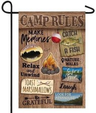 Garden Flag, Suede- Camp Rules