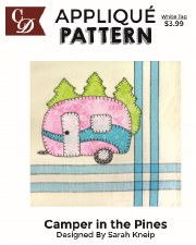 Applique Pattern- Camper in the Pines