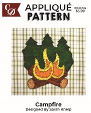 Applique Pattern- Campfire