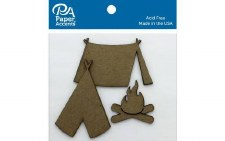 Paper Accents Chipboard- Camping 6ct
