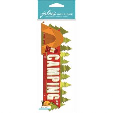 Jolee's Outdoors Dimensional Title Stickers- Camping