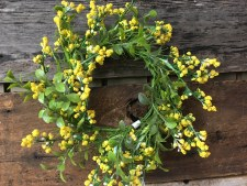 """Spring Candle Ring 10""""- Yellow Wildflowers"""