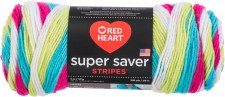 Red Heart Super Saver Yarn, Stripes- Candy