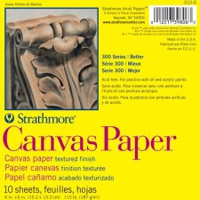 "Strathmore 300 Series 6""x6"" Canvas Paper Pad, 10 Sheets"