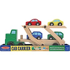 Melissa & Doug Wooden Toy Set- Car Carrier