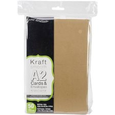 Core'dinations A2 Cards & Envelopes Pack, 50ct- Kraft
