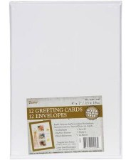 Blank A7 Cards & Envelopes Pack, 12ct- White