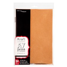 Core'dinations A7 Cards & Envelopes Pack, 50ct- Kraft