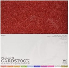 12x12 Glitter Cardstock Assortment, 30ct