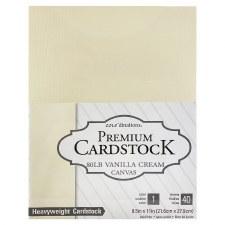 """8.5x11"""" Premium Cardstock, 40ct- Vanilla"""