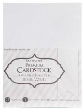 """8.5x11"""" Premium Cardstock, 25ct- White 110#"""