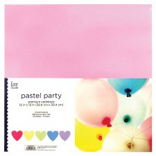 """12x12"""" Cardstock Pack, 25ct- Pastel Party"""