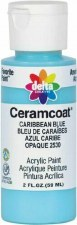 Delta Ceramcoat Acrylic Paint, 2oz- Blues: Caribbean Blue