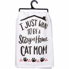 LOL Dish Towel- Cat Mom