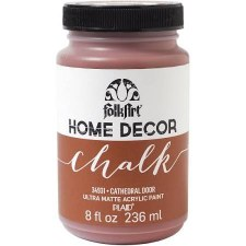 FolkArt Home Decor Chalk Paint 8 oz- Cathedral Door