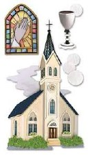 Jolee's Faith Dimensional Stickers, Large- Catholic Church