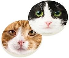 Car Coasters, 2pk- Cat Faces