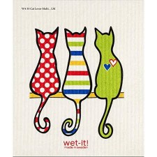 Swedish Dishcloth- Cats