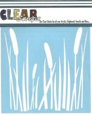 Clear Scraps 12x12 Stencil- Cattails