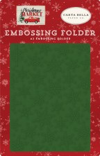 Christmas Market Embossing Folder- Market Snow