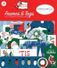 Merry Christmas Ephemera- Frames & Tags