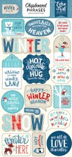 Celebrate Winter Chipboard- Phrases