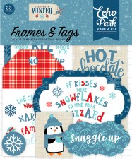 Celebrate Winter Ephemera- Frames & Tags