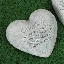 """6"""" Heart Memorial Stone- Grandad"""