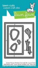 Lawn Fawn Interactive Craft Dies- Center Picture Window Card Add-On