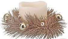 """6"""" Glittered Pine Candle Ring- Chamgpane"""