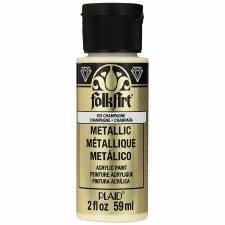 FolkArt 2 Oz. Metallic Acrylic Paint- Champagne