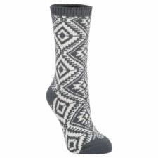 Aztec Galaxy Crew Sock - Charcoal