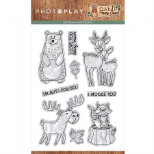 Camp Happy Bear Stamps/Dies- Clear Stamp Set