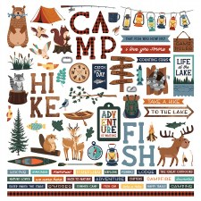 Camp Happy Bear Sticker Sheet