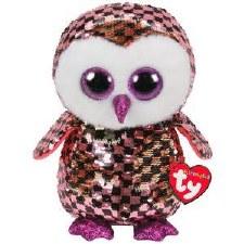 Beanie Flippable Sequins Collecion, Medium- Checks the Owl