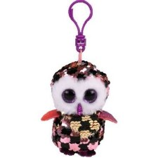 Beanie Flippable Sequins Collecion, Clip- Checks the Owl