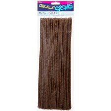 Darice Chenille Stems 100 pc- 6mm Brown