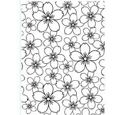 Darice Embossing Folder- Backgrounds- Cherry Blossoms