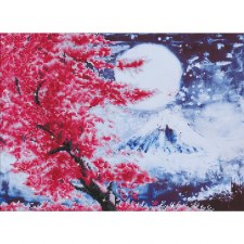 Diamond Facet Art Kit- Cherry Blossom Mountain